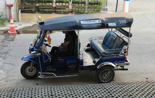 A tuk tuk vehicle in Chiang Mai