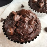 Flourless Chocolate Chocolate Chip Muffins
