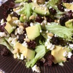 Spring Balsamic Avocado Feta Salad