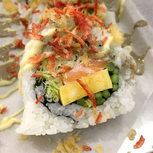 Close-up of the 604 Roll from Chotto Maki