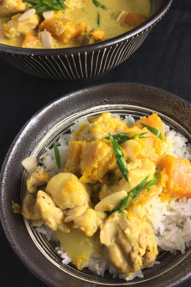Creamy Chicken Pumpkin Curry over rice - Favorites of 2018