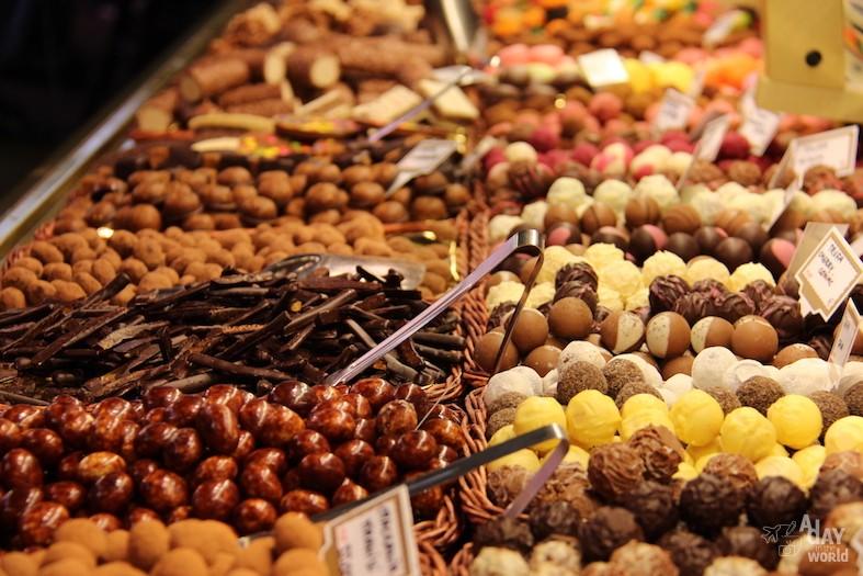 boqueria barcelone chocolat