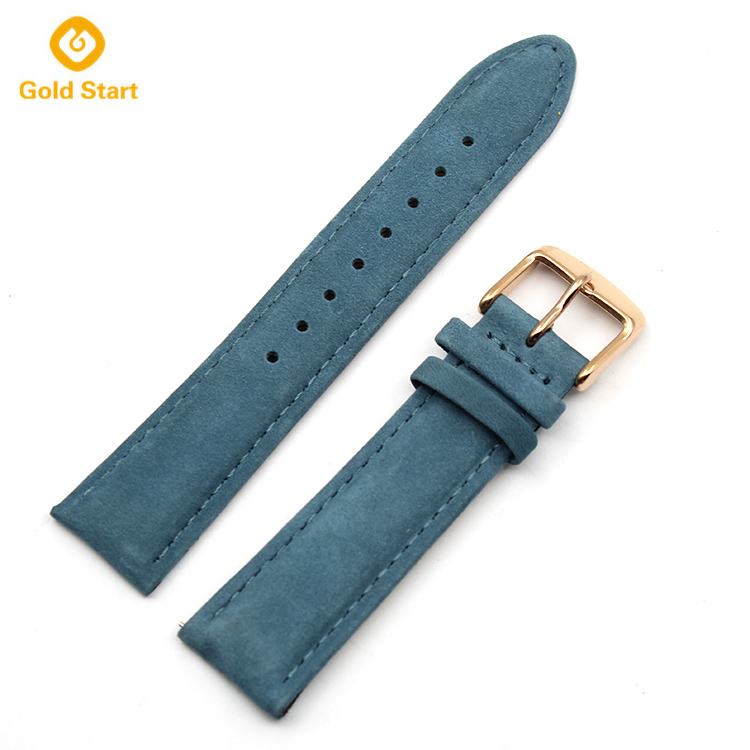 blue 20mm genuine leather quick release watch straps