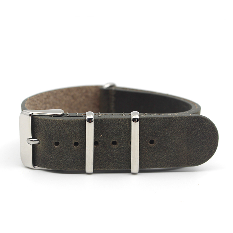 vintage watch strap 20mm crazy horse leather