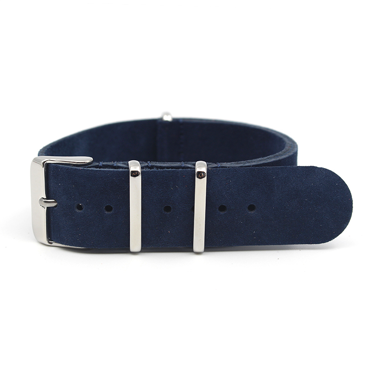 watch band strap blue leather 20mm
