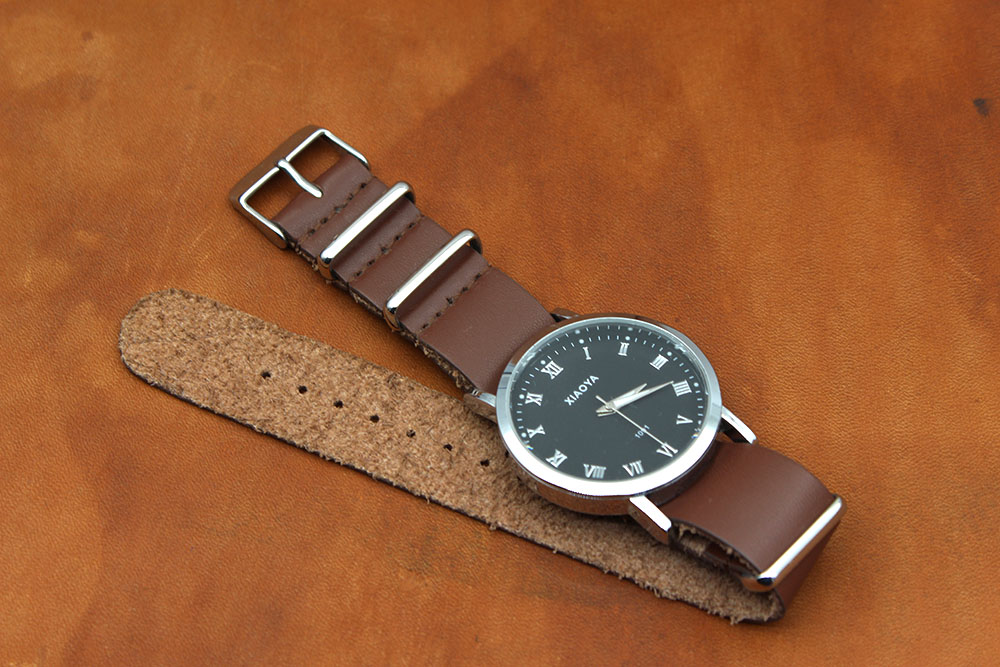 best nato strap brown leather wholesale factory