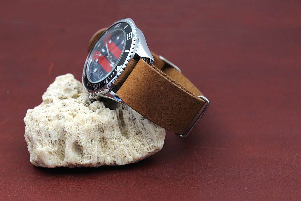 crazy horse leather nato watch strap 22mm