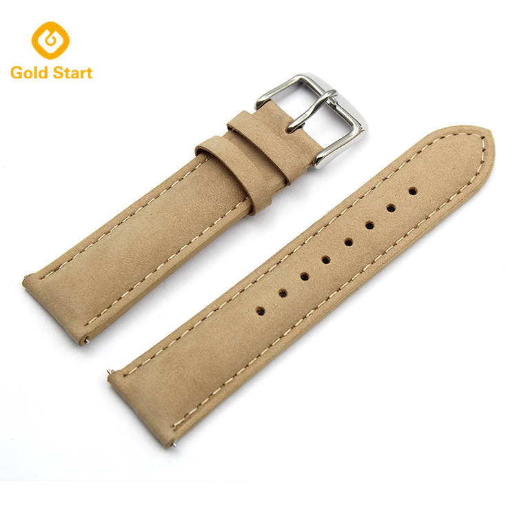 20mm beige leather Quick Release watch straps