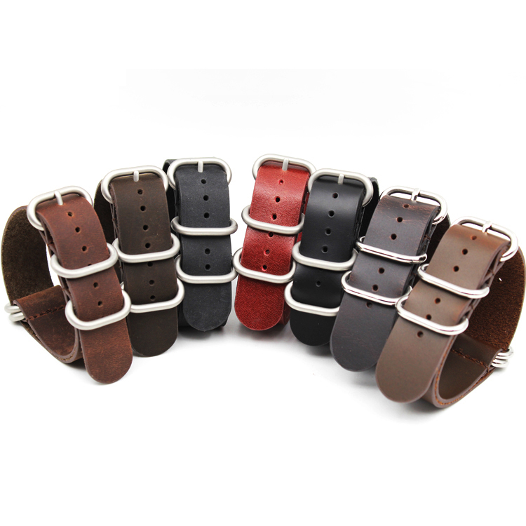 zulu straps cowhide leather high quality