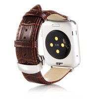 apple watch band leather brown crocodile