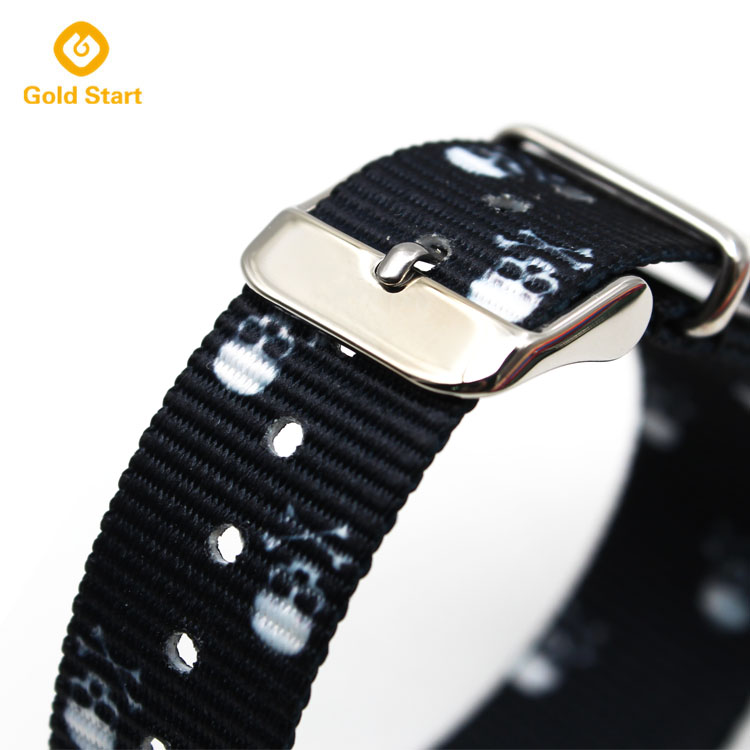 printed nylon nato strap stainless steel buckle
