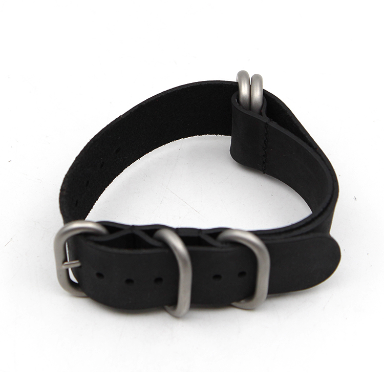black zulu strap leather 1.6mm thick