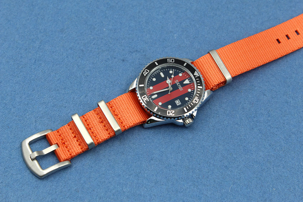 20mm Orange seatbelt watch strap Nato