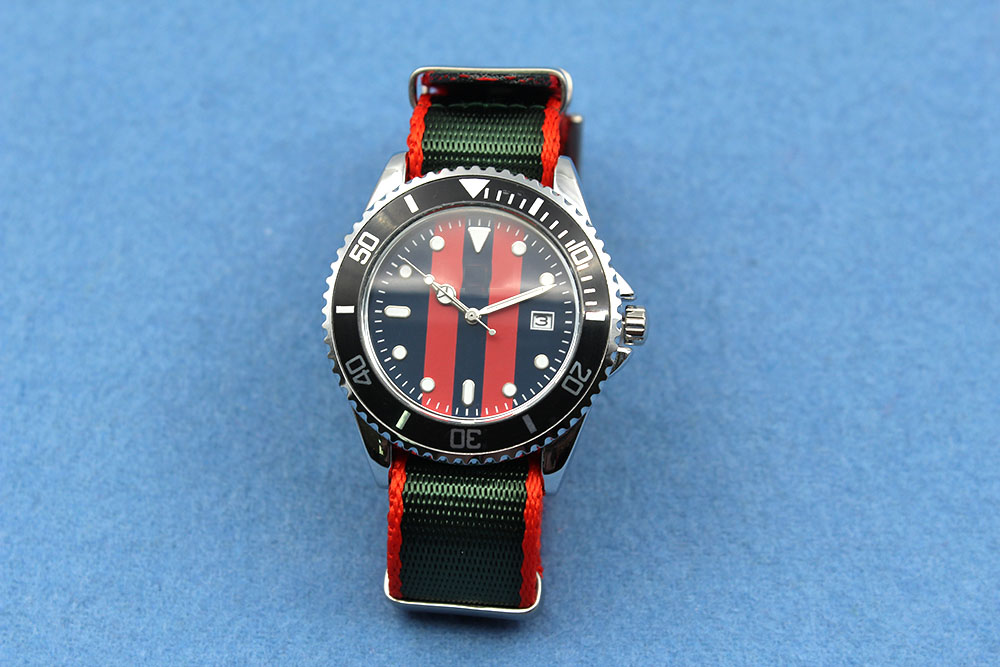 18mm green red nato replacement watch strap nylon