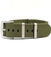 green nato strap military heavy duty brushed buckle