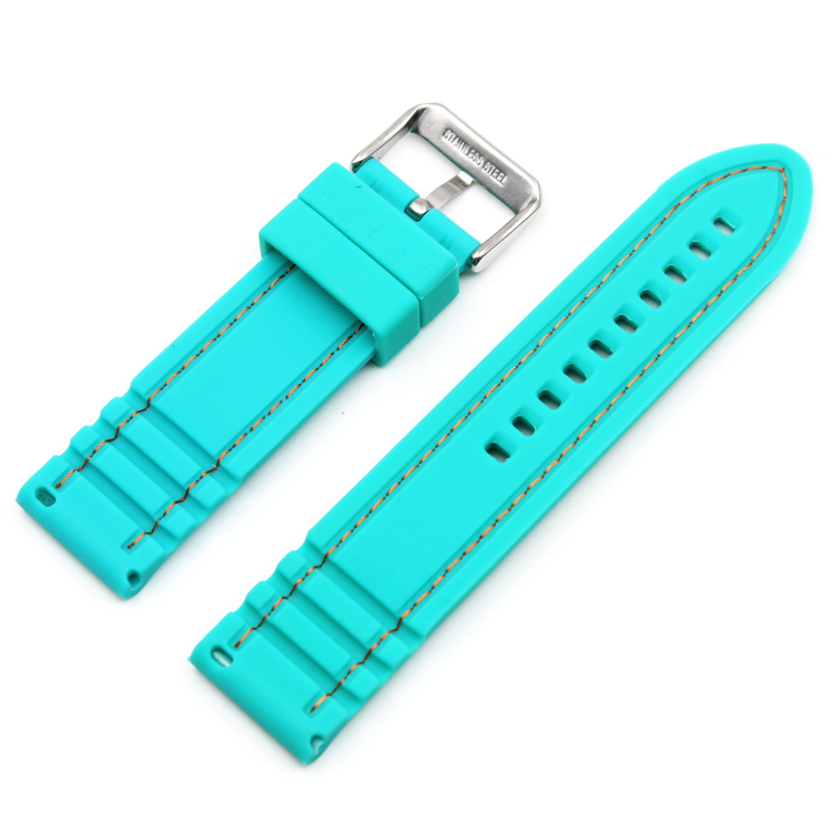 rubber watch straps 22mm quick release green