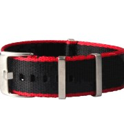 black red nato strap seatbelt nylon heavy duty