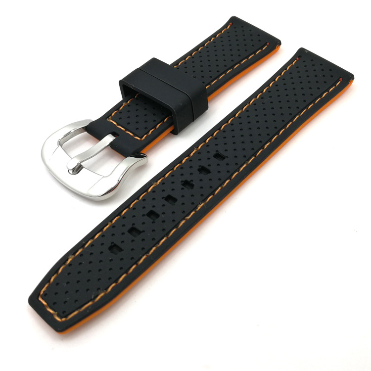 sport watch strap replacement black rubber