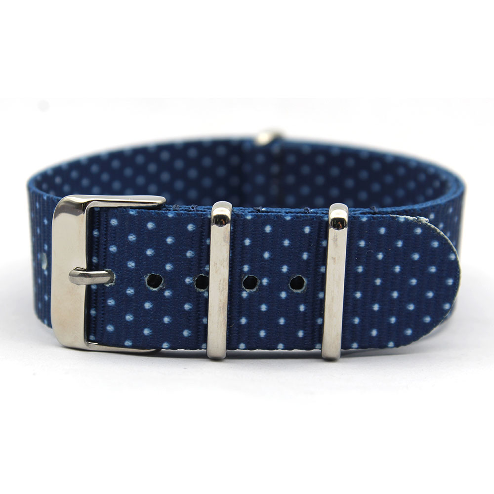 blue Polka Dot Nato Strap graphic nylon