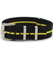 black yellow nato strap heavy duty