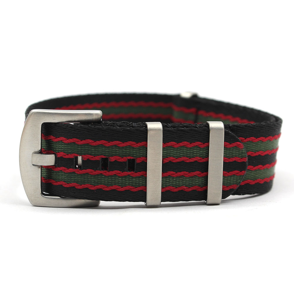 bond nato watch strap black red green heavy strong duty