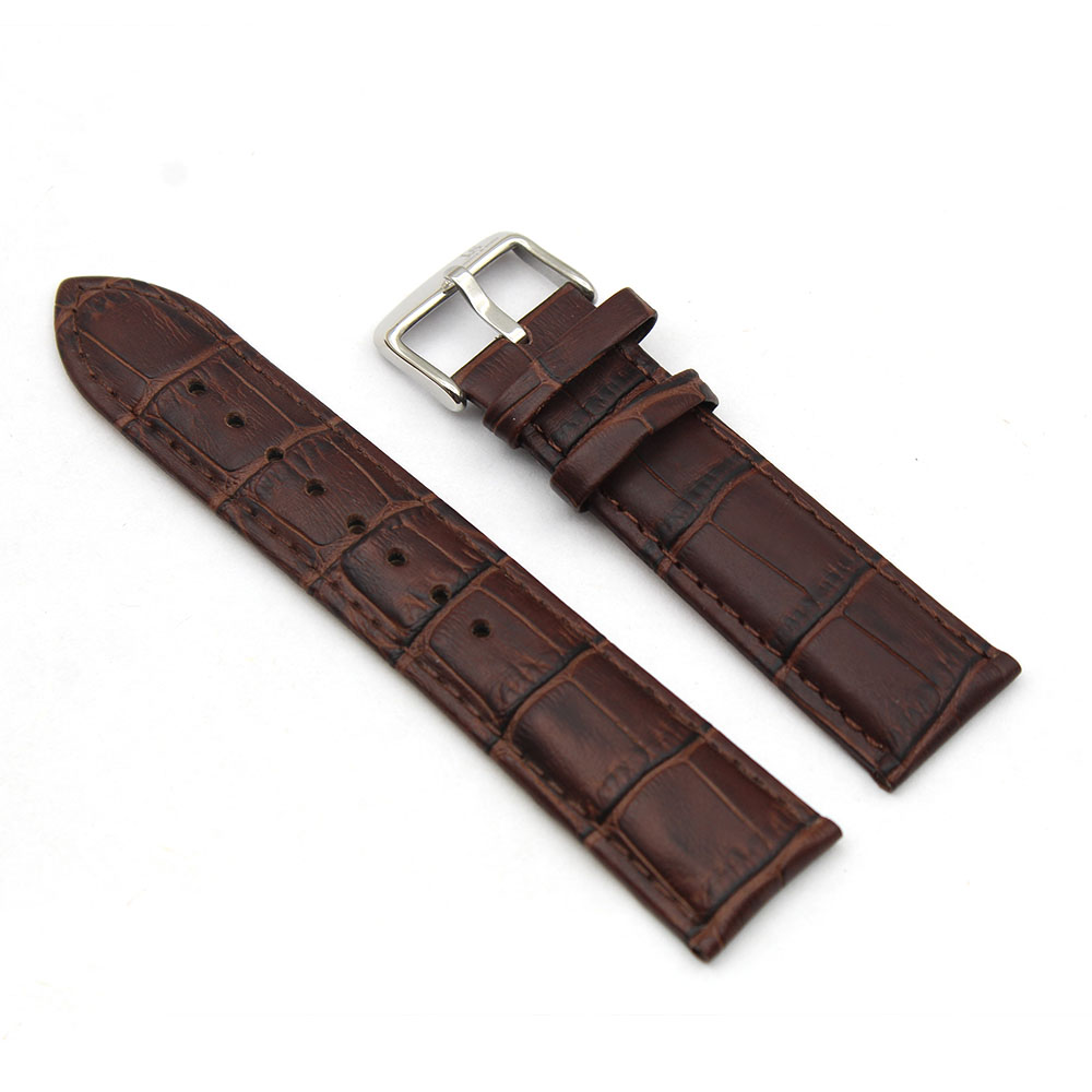 alligator watch strap brown real leather