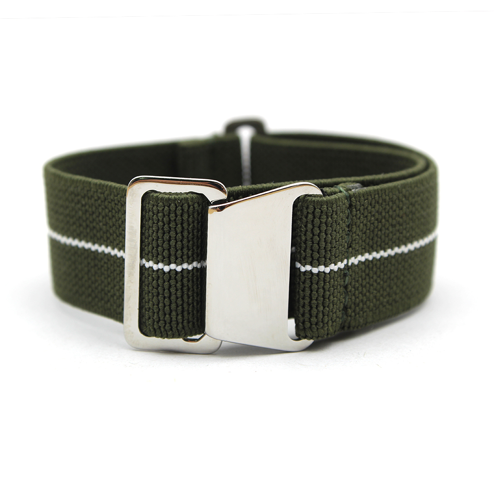 military watch straps green heavy duty 20mm