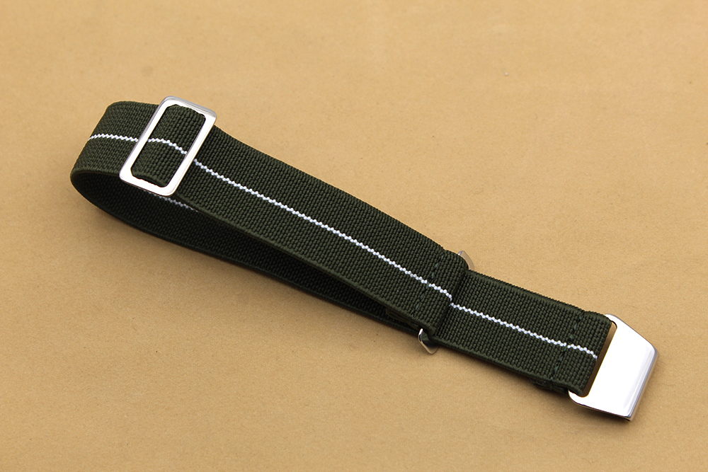 military watch straps elastic nylon adjustable 18mm