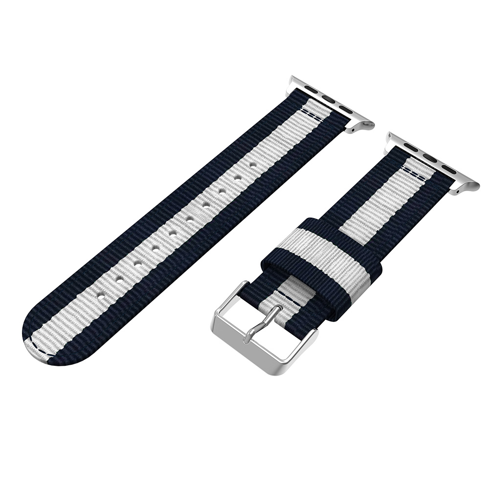 apple nylon watch band blue white 44mm
