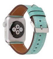 apple leather watch band green