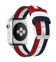 apple nylon watch strap blue white red