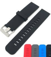 silicone replacement watch bands black 20mm