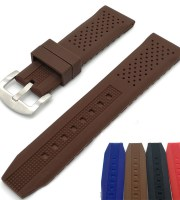 custom rubber watch straps tropical rally brown