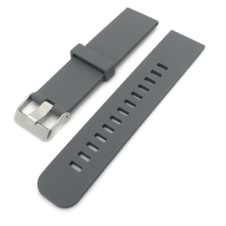 silicone replacement watch bands grey quick release