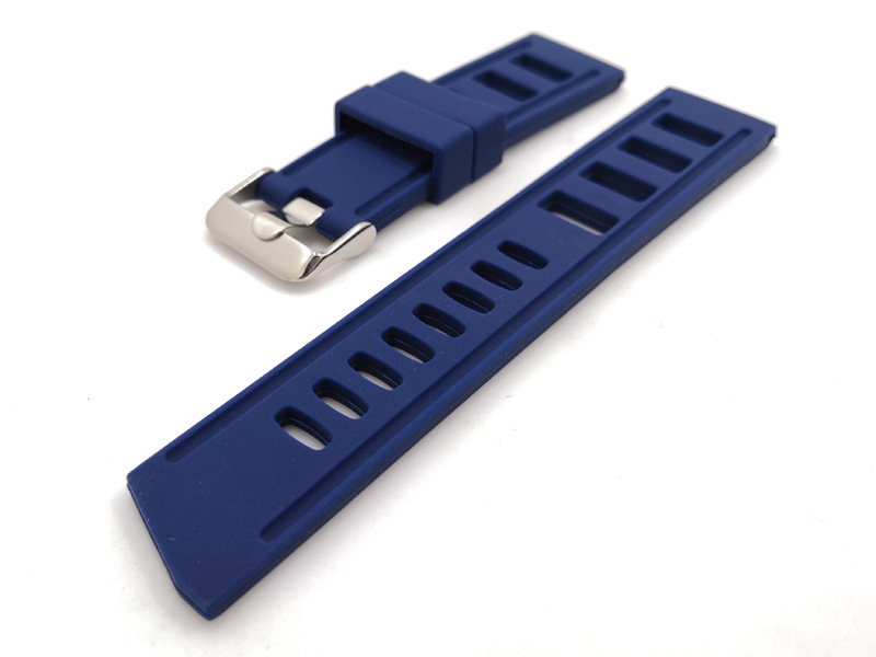rubber watch straps rally blue 20mm