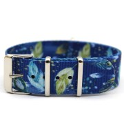 flower nato strap graphic tropical nylon print