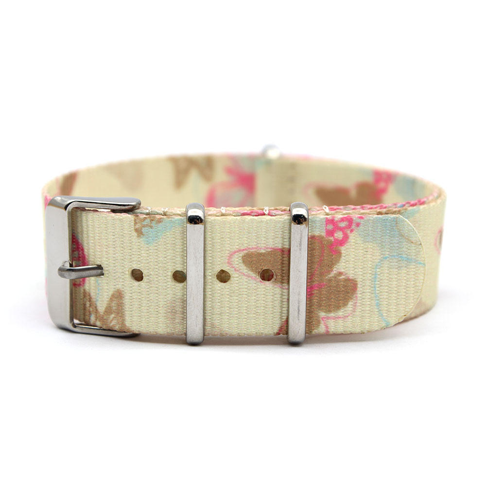 one piece watch bands nylon butterfly print