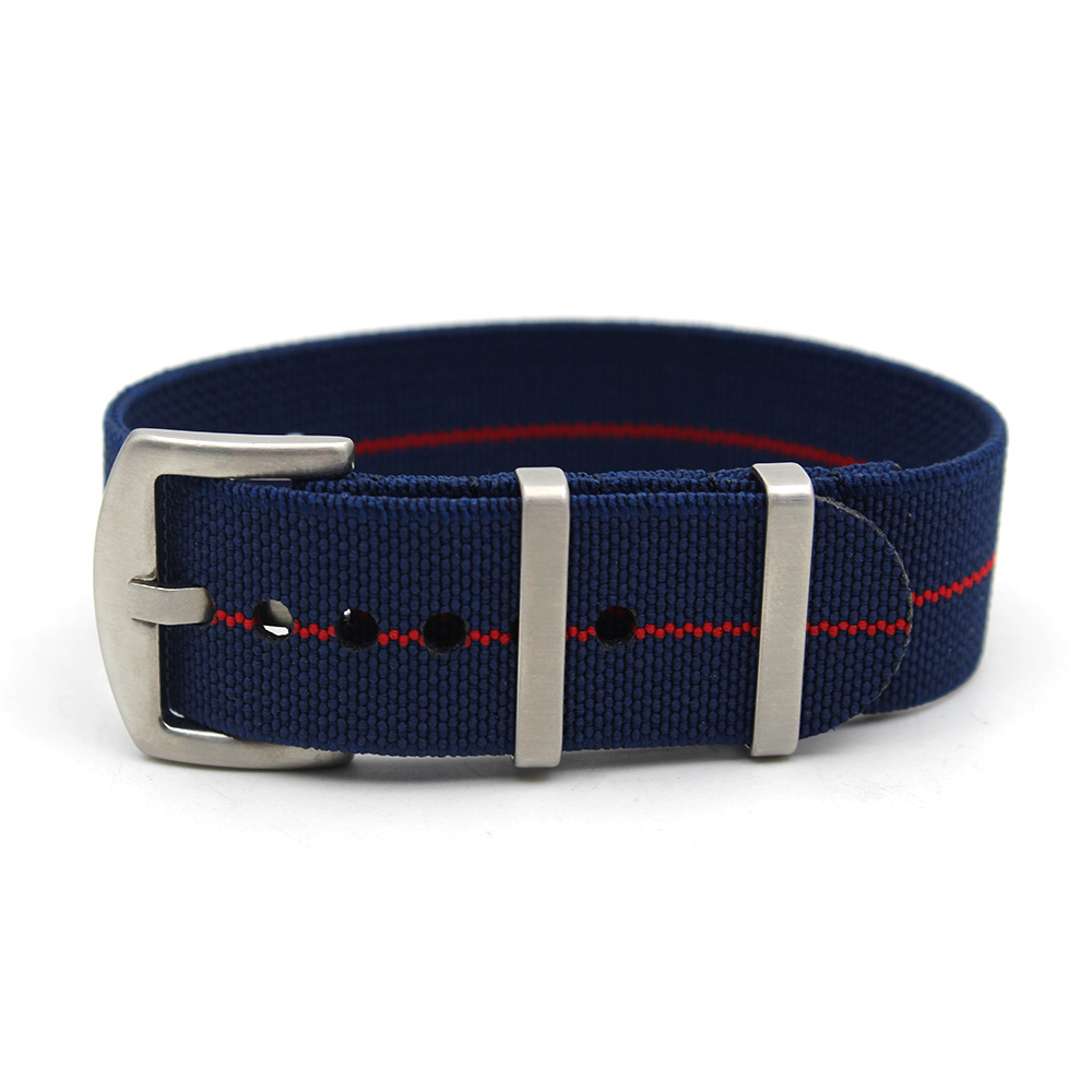 ndc nato strap elastic watch strap nylon 20mnm blue red