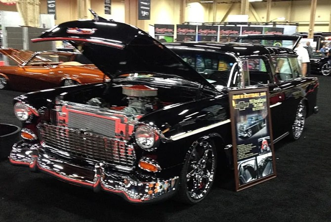 55 Chevy Nomad at Barrett-Jackson, Las Vegas, NV 2013