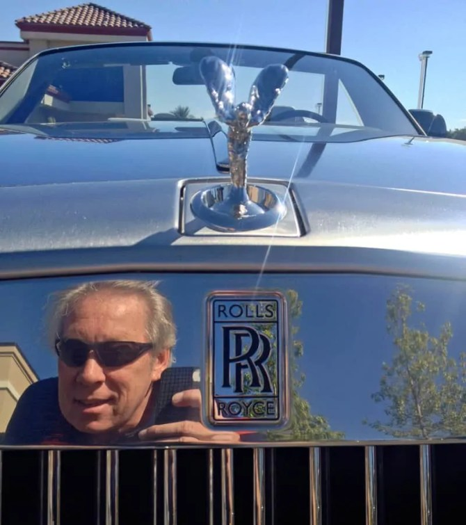 A.D. Cook with Rolls Royce at 4th Annual Italian Sports Car Day 2013