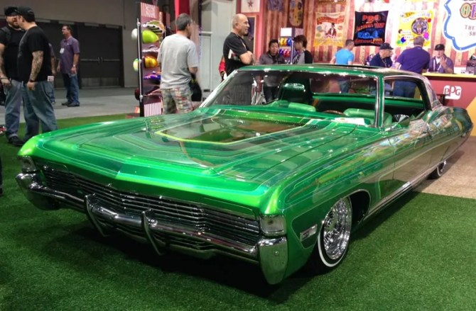 SEMA-2013-PPG-Booth-GreenChevy