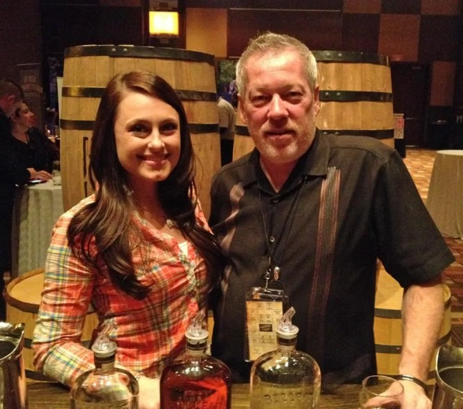 WhiskeyFest 2014 - Dickel Whiskey Girl and A.D. Cook, Las Vegas, NV.