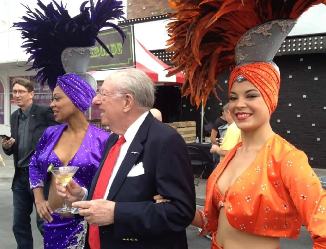 Oscar Goodman and Ladies, Great Festival of Beer, Las Vegas, NV
