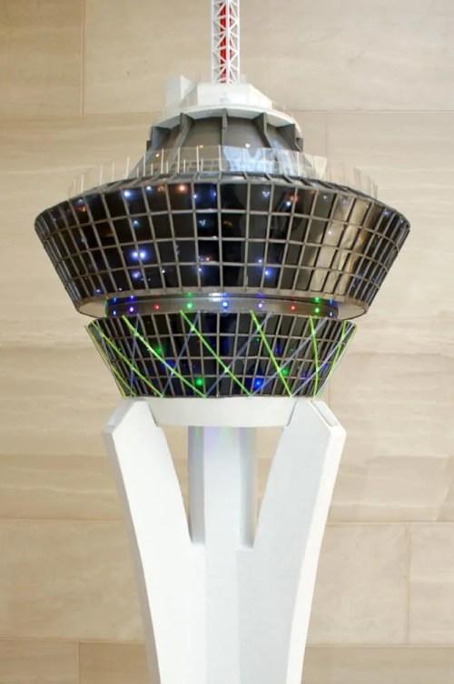 Stratosphere Scale Model - upper section, ITT, Las Vegas, NV