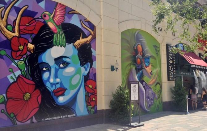 The LINQ wall murals, Las Vegas, NV