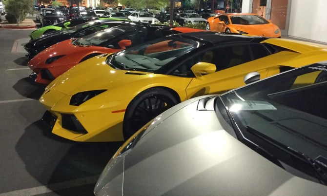 Lamborghinis at Lamborghini Las Vegas