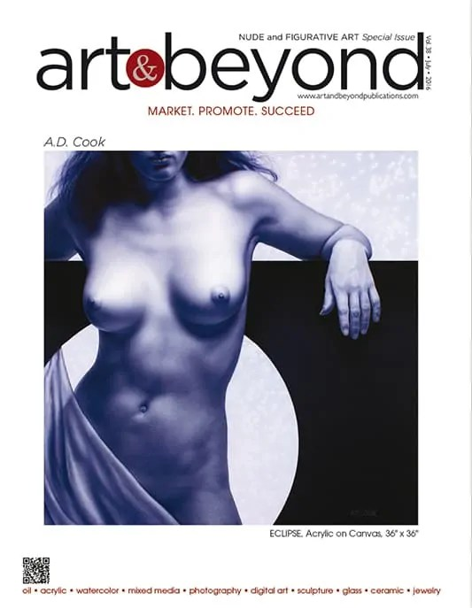 A.D. Cook painting featured on Art & Beyond cover - Special Nude Edition 2016