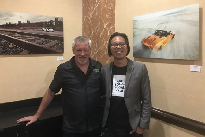 Artist A.D. Cook & Jordan Shiraki at RailRoad Pass Show Cars