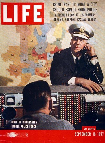 1957 Life Magazine Cover Cinncinnati Police Chief