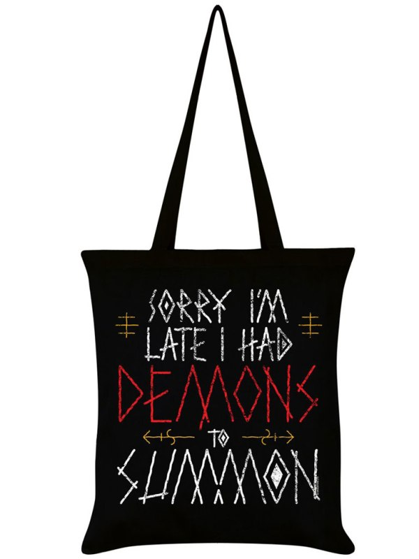 GRINDSTORE - Sorry I'm Late, I Had Demons To Summon Totebag